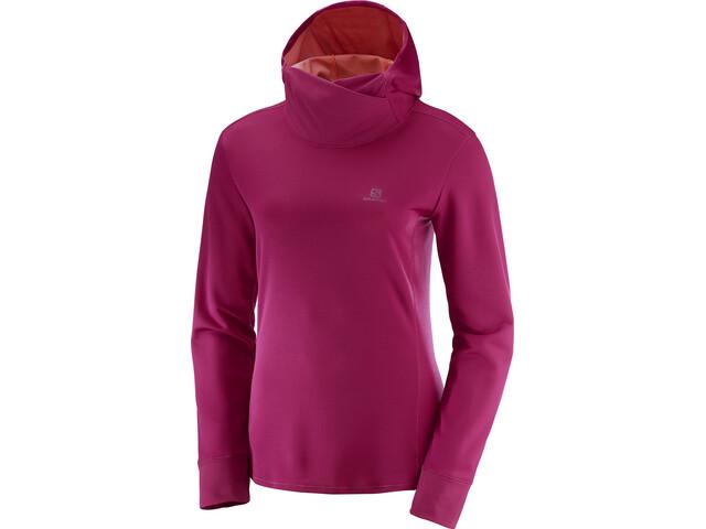 Salomon Agile Running Shirt longsleeve Women pink